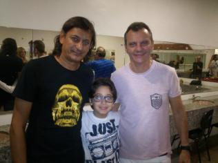 Foto de Gabriel Araújo de Brito Vidal (09 anos) após Show em Recife, em Agosto de 2013 enviada por Alessandra Cavalcanti de Araújo